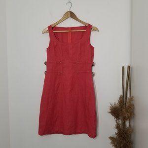 Lily Simon | Coral Buckle Side Mini Dress 90's